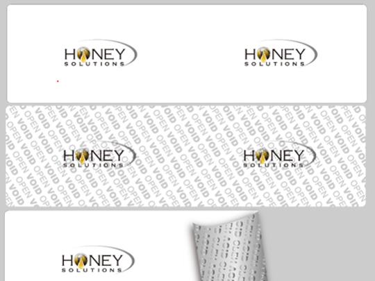 tamper evident tape custom logo